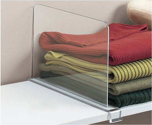 acyrilic shelf divider
