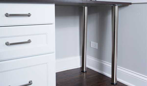 desk legs in chrome