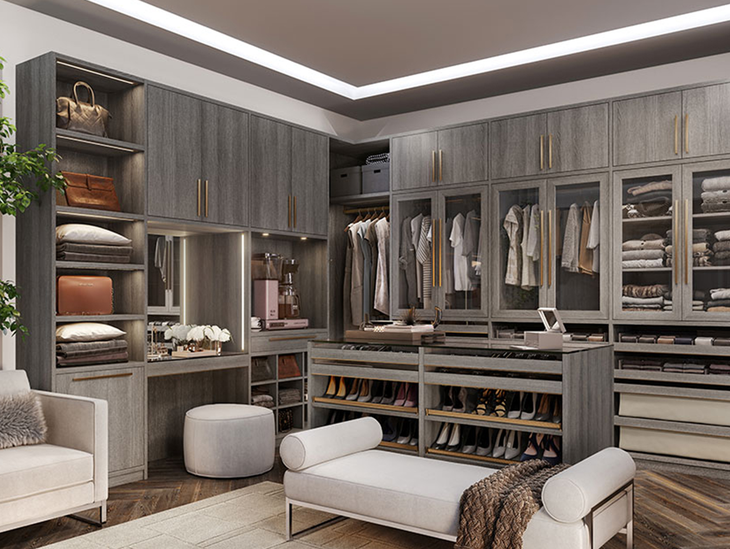 Walk-In Closet <h3>Your <strong>Capital Cabinet & Closet</strong> walk-in closet will be completely bespoke, created to work with your life, and have the storage features you require. </h3>